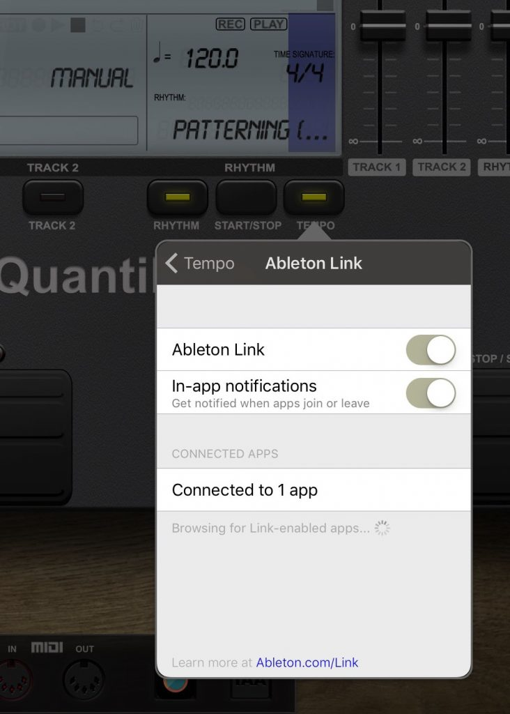 Quantiloop offers support for Ableton Link amongst other sync methods.