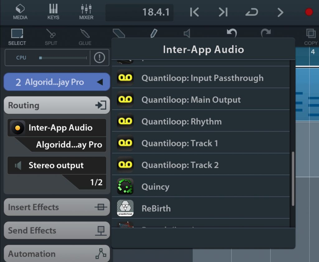 Quantiloop offers separate audio outputs via both Audiobus and IAA for its tracks.