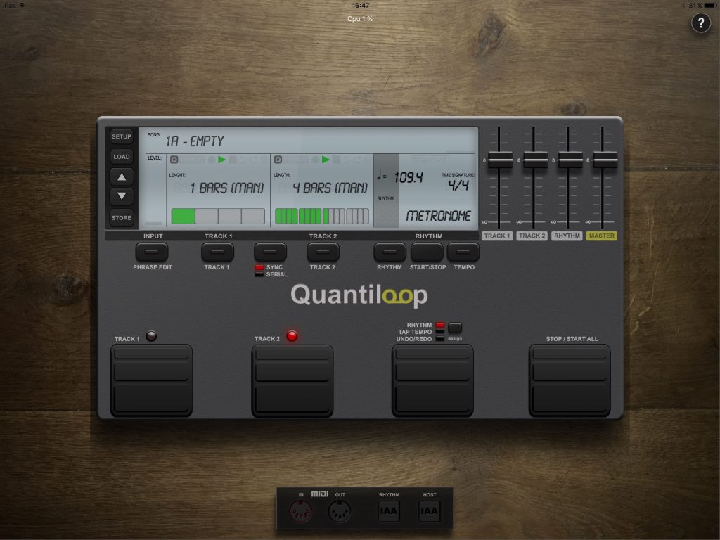 Quantiloop - very hardware looking but with a cool feature set for those wishing to get into looping.