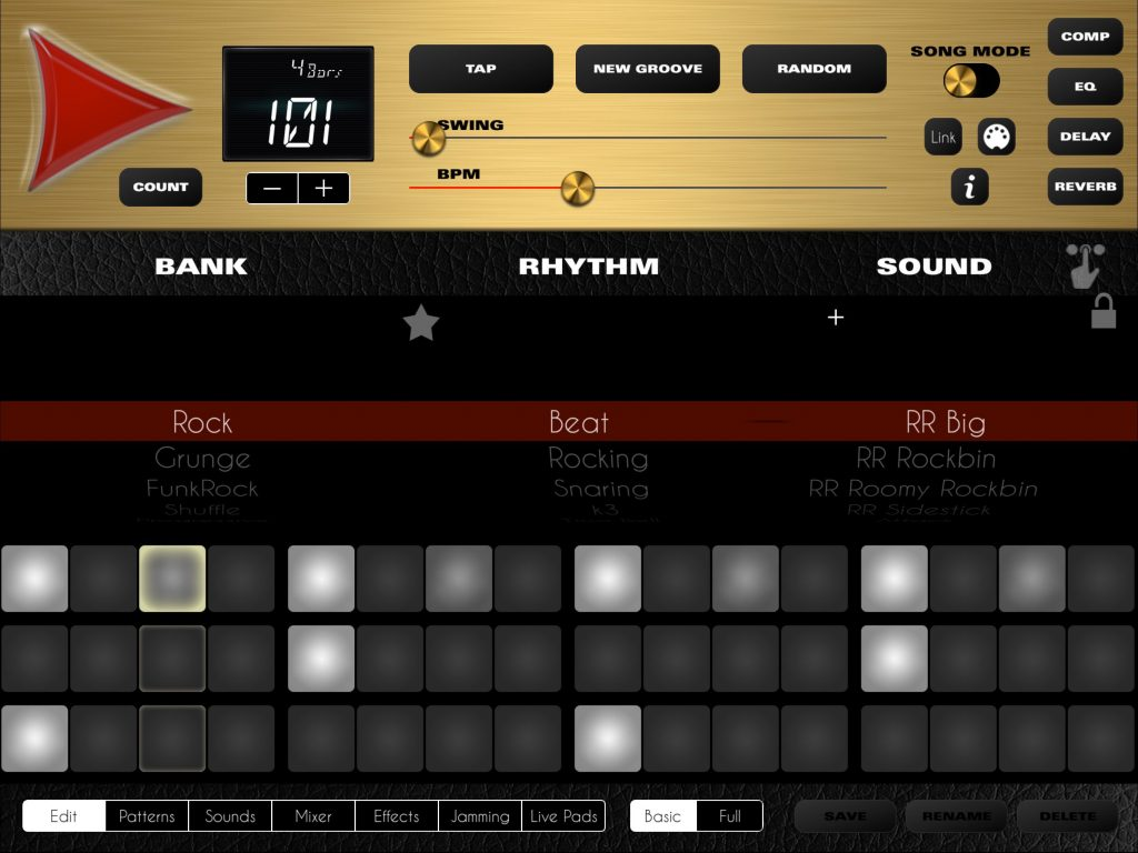 Rock Drum Machine v.4 comes with a new logo and a new visual look.