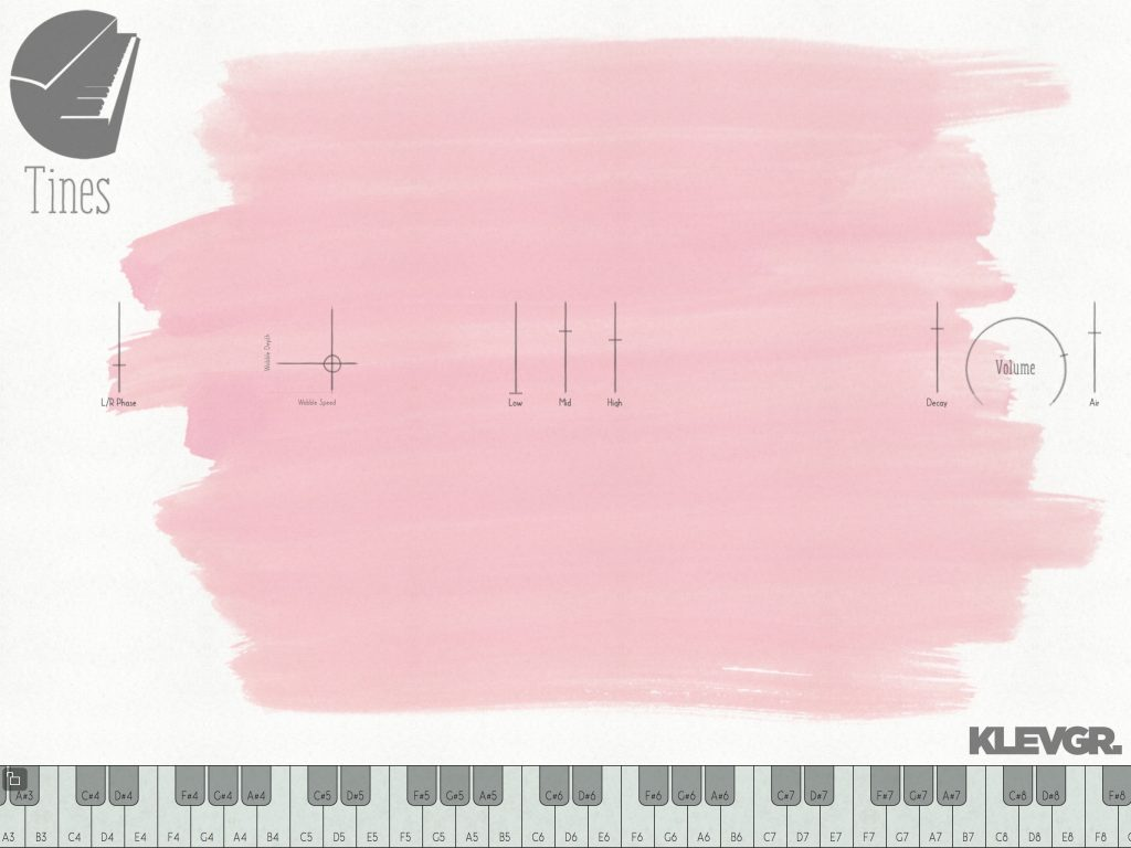 Tines - Klevgränd's electric piano app keeps things simple....