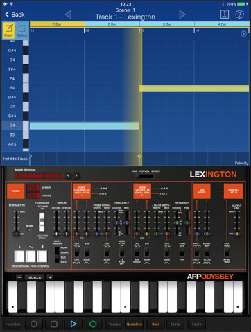 The new lexington gadget is based upon the ARP ODYSSEi app....  arriving soon on the App Store apparently.