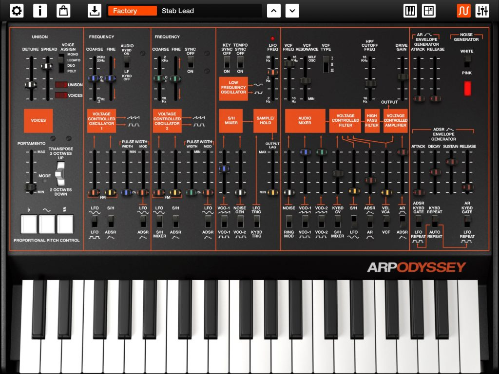 Korg's ARP ODYSSEi - a classic analog synth in an app... with a few modern twists added for good measure :-)