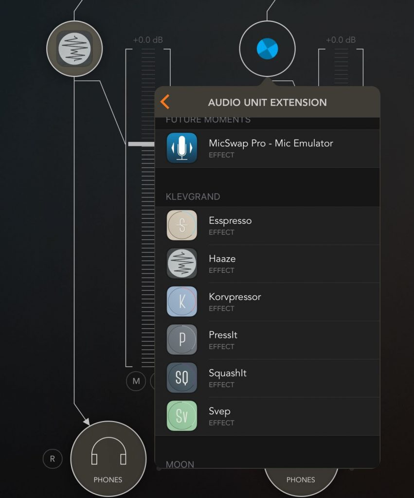 Klevgränd are building a very good collection of AU apps under iOS... as seen here within AUM.