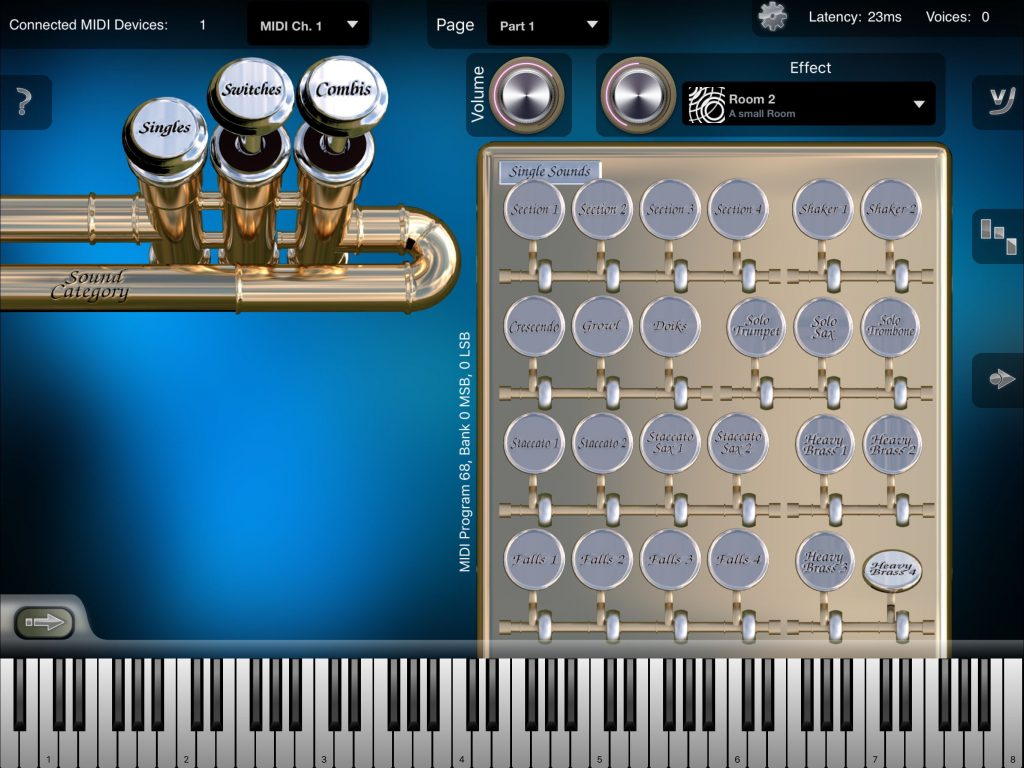 Crudebyte have added seven new sounds in this first update to their Heavy Brass app.