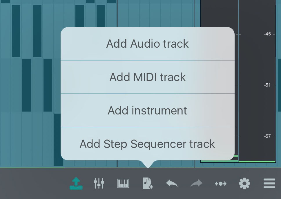 You can create as many tracks of different types as your device can manage.
