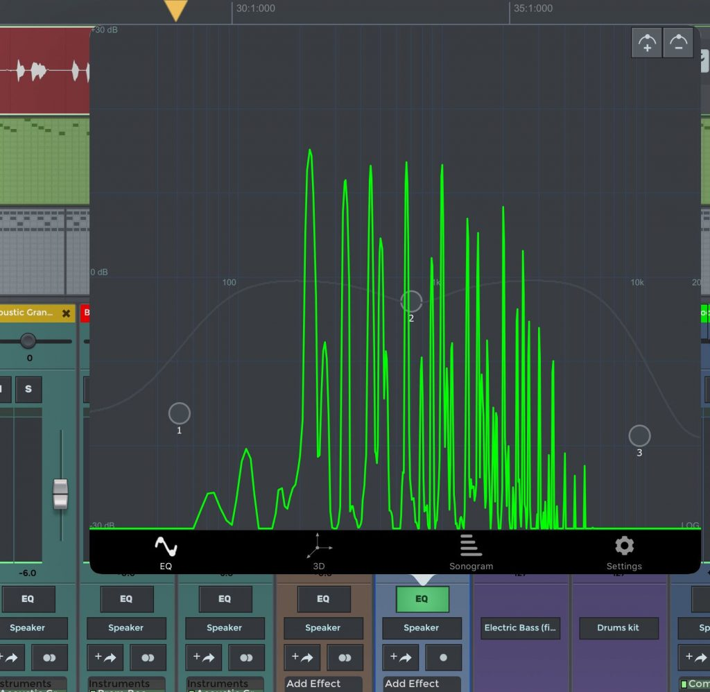 The included audio effects are perhaps not a real highlight of the app... but the EQ is pretty flexible.