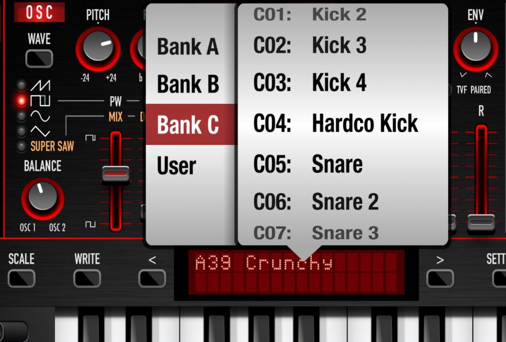 The latest update also adds some new presets including a collection of drum sounds.
